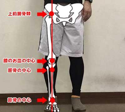 脚の中心線