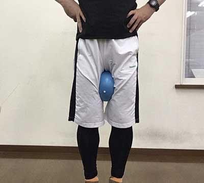 膝を引締める運動